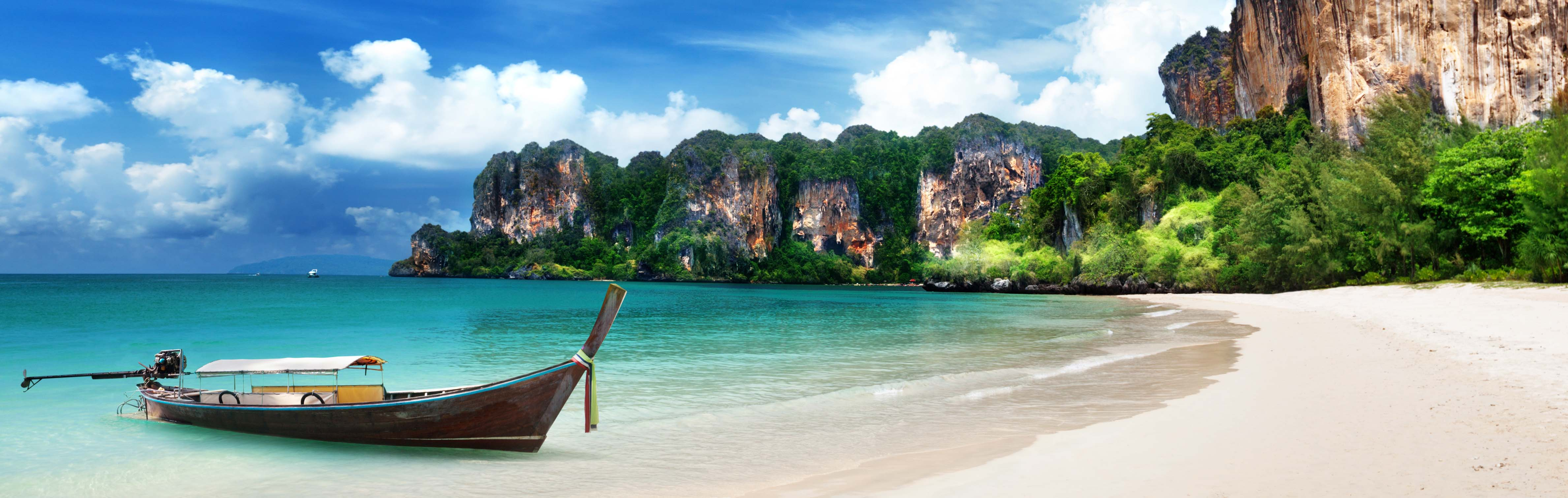 Krabi, Thailand is known for its beautiful beaches.