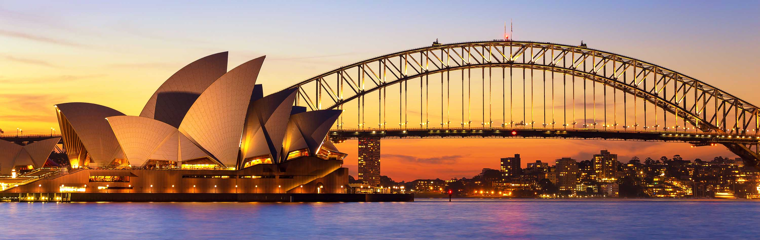 Australia Tour - Sydney Opera House and Harbour at Night