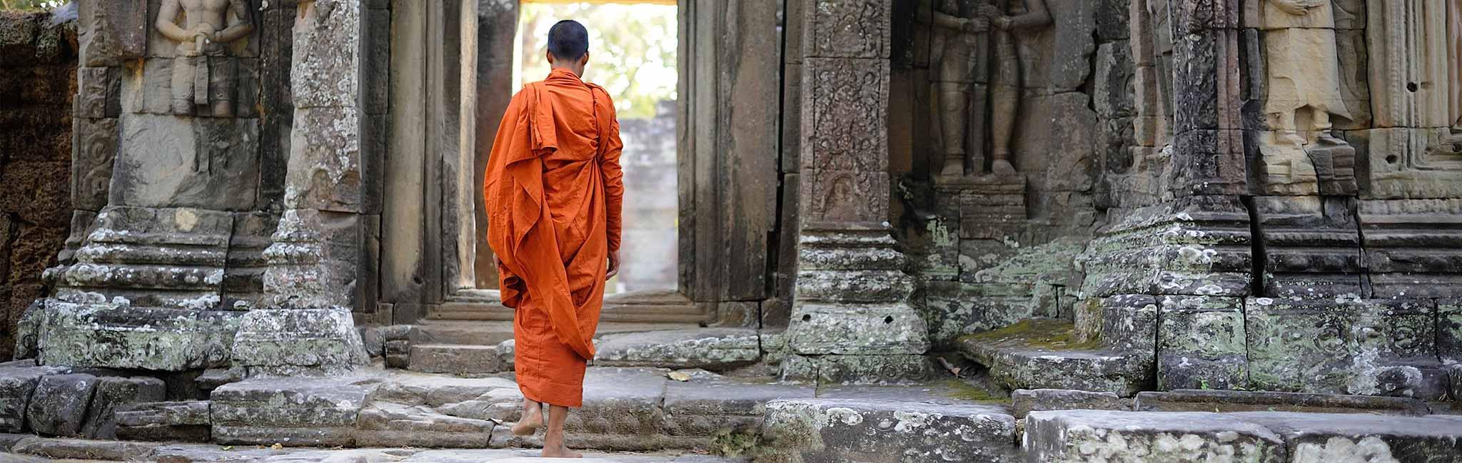Cambodia Tour of Angkor's Banteay Kdei temple