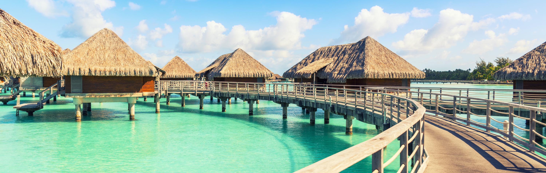 Tahiti Tour - Remote Bungalow Over the Ocean in Bora Bora