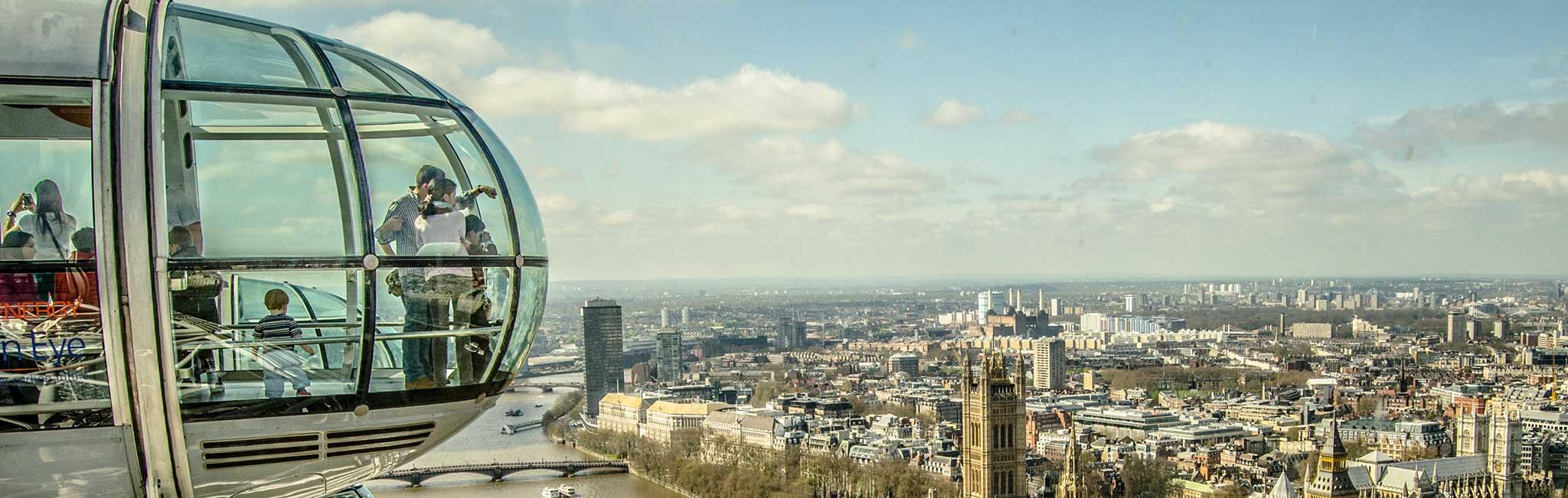 Family Tours - View from London Eye Pod