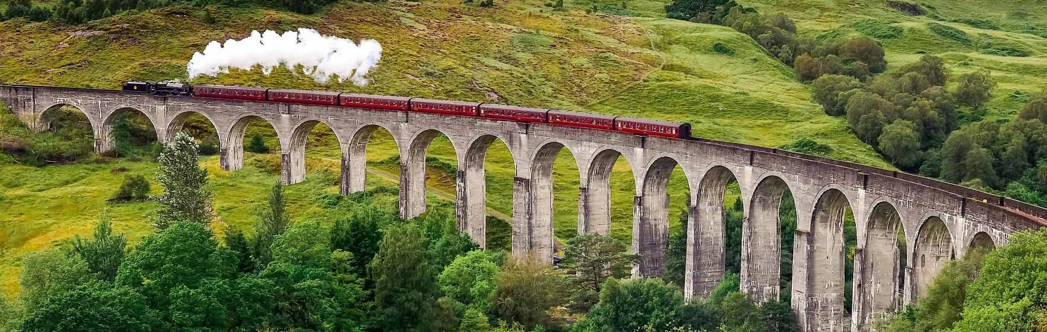 UK Tour - Train Traveling England's Countryside
