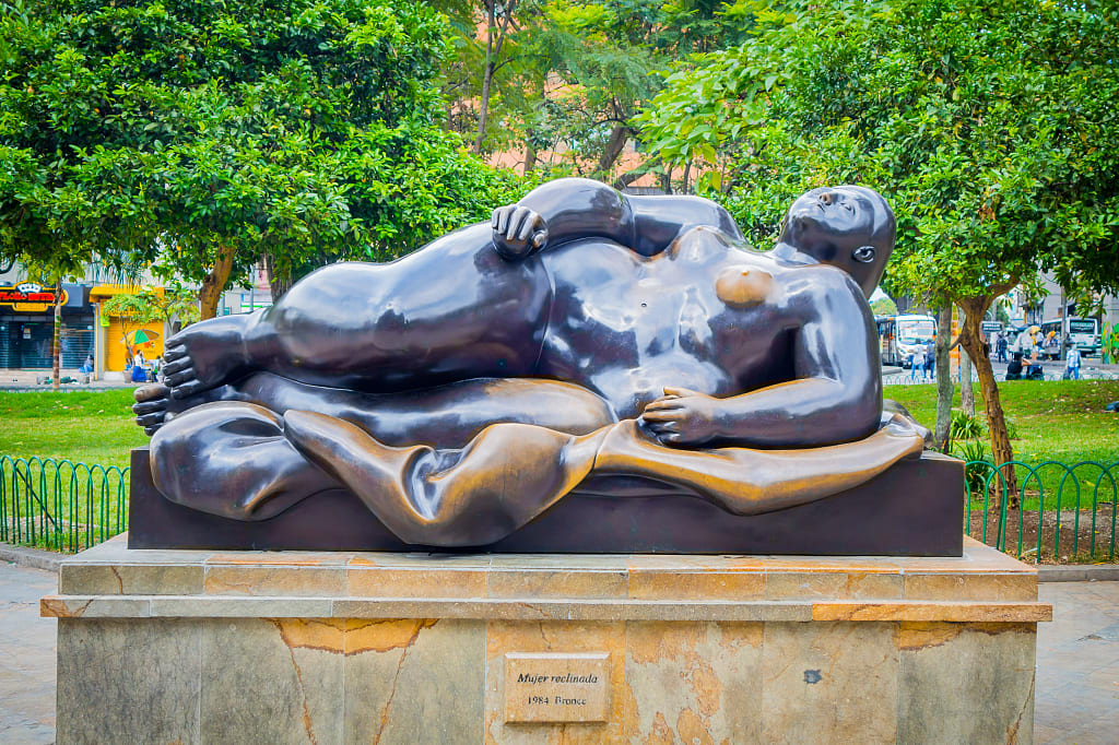 Plazoleta de las Esculturas Statue by Fernando Botero in Medellin, Colombia