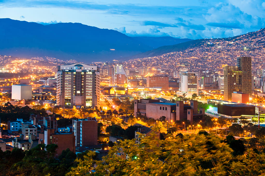 Colombia at Night