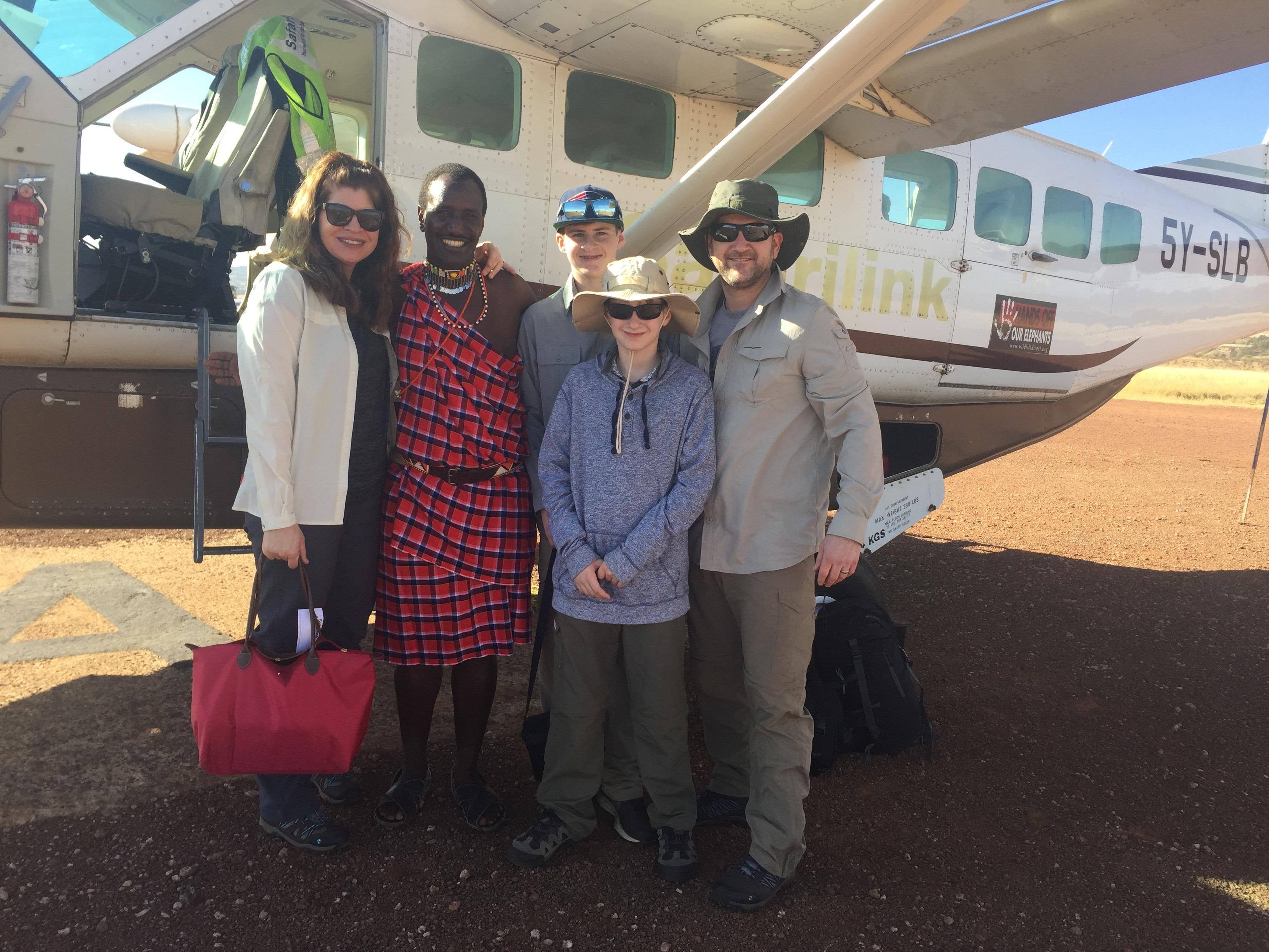 Marci-Beth African safari with family