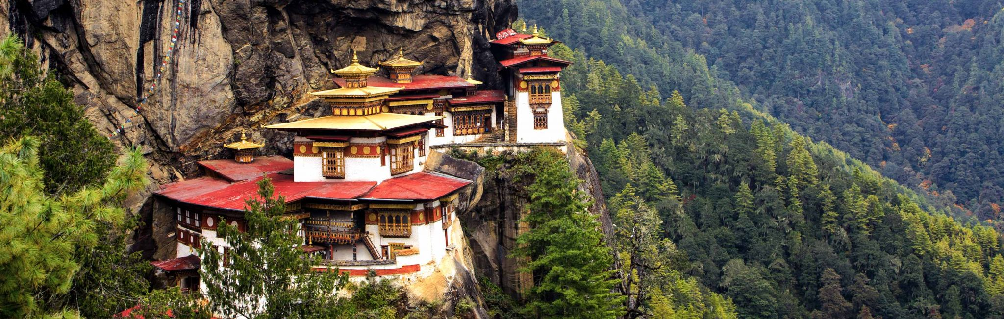 The Tigers Nest Monastry in the Himalayas of Bhutan.