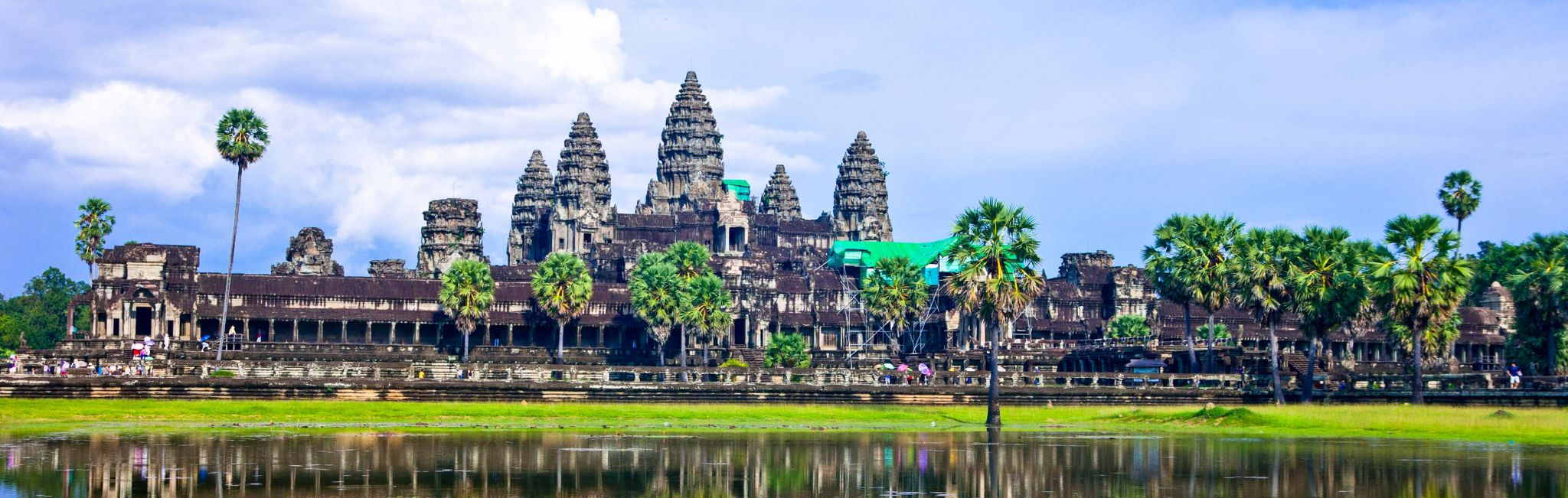 The temple complex of Angkor Wat in Siem Reap, Cambodia.