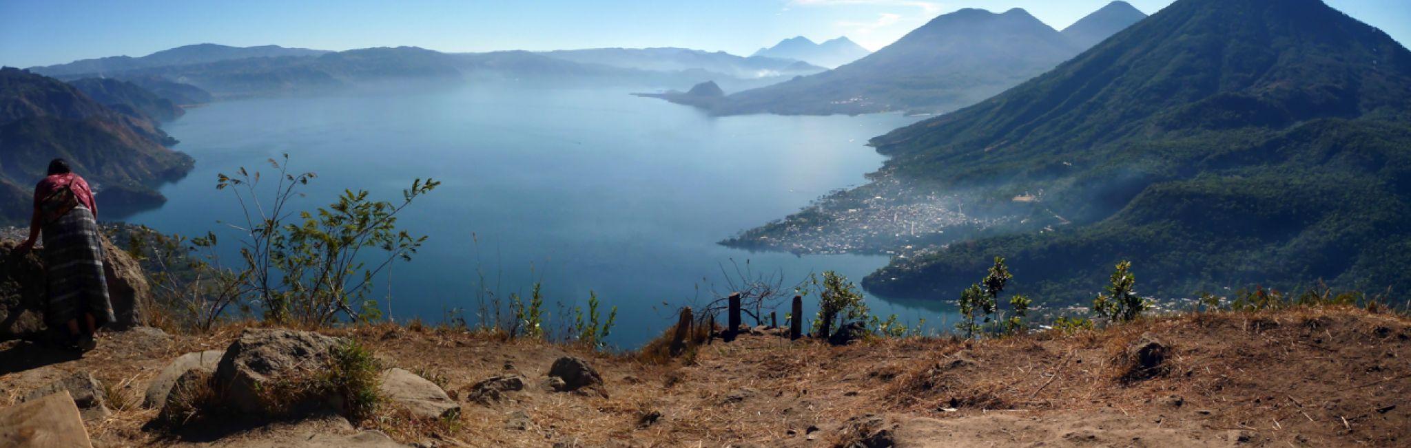 A view of San Pedro on Lake Atitlan.