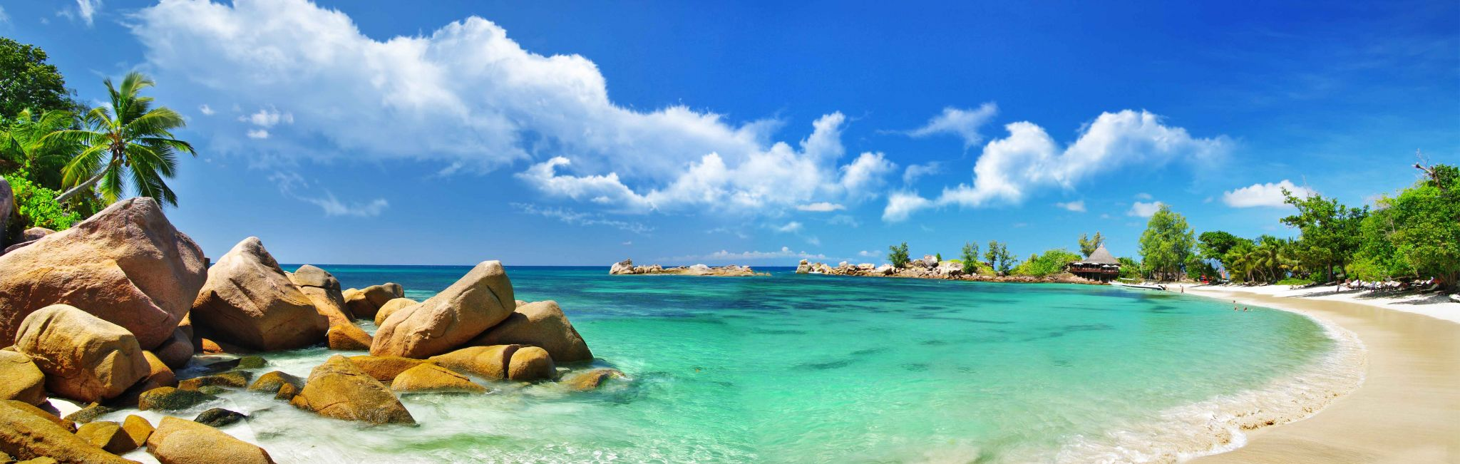 The Seychelles are a tropical paradise with beautiful beaches.