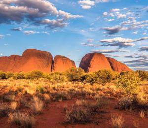 The domes of Kata Tjuta in the Valley of the WInds, Australian Outback