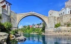 The Old Bridge - Stari Most - in Mostar, Bosnia.