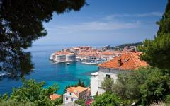 View of the Old Town in Dubrovnik, Croatia.