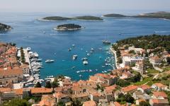 View of Hvar town on the island of Hvar, Croatia.