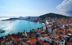 The town of Split in Croatia.