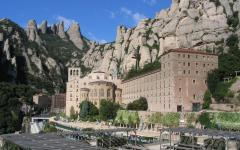 spain catalonia montserrat peak and abbey
