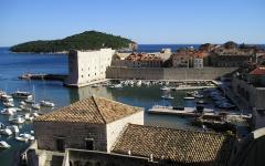 Dubrovnik, on the Adriatic coast of Croatia.