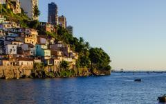 A sunset on a coastal town in Bahia, Brazil.
