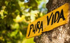 Pura Vida' is the country's unofficial motto.