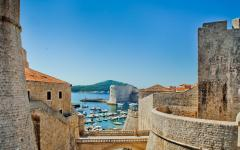 A view of the water from the Old City of Dubrovnik.