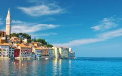 A coastline of Rovinj, Croatia.