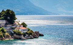 The Adriatic coast off Split in Croatia.