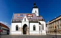 St Mark's Church in Zagreb, Croatia.