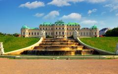 The Belvedere Palace in Vienna, Austria.