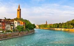 The village of Verona in Northern Italy.