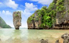 A famous rock formation in Phuke, Thailand.
