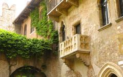 Romeo and Juliet balcony in Verona.