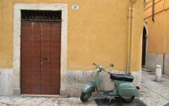 The scooter is commonly found on Italian roads.