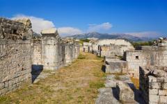 Ruins of an amphitheatre in Split, Croatia.