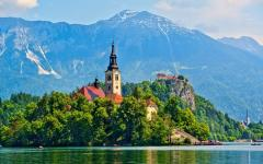 Lake Bled in Slovenia.