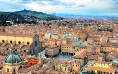 Bologna is located in the northeastern region of Emilia-Romagna, Italy.