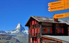 Matterhorn trail sign.