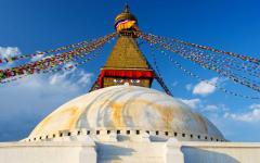Buddhist boud hanath stupain Kathmandu.