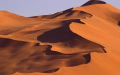 A sand dune in Namibia.
