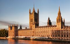 House of parliament in London.
