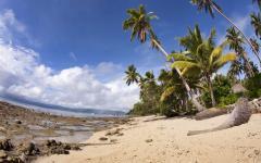 Tropical beach in Fiji.