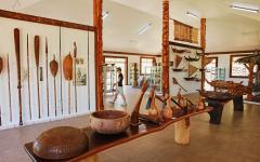 Polynesian cultural items on display
