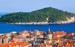 Looking over the rooftops of Dubrovnik, Croatia.