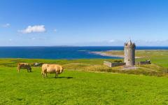 Doonagore Castle in Doolin, County Clare, Ireland.