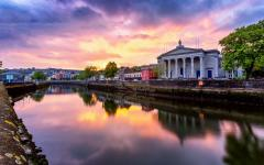 Cork City at sunset.