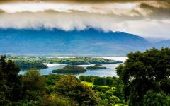 The landscape of the Ring of Kerry in Killarney.