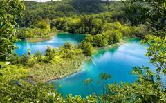 Plitvice National Park in central Croatia.