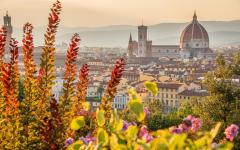 View of Florence, Italy with the Cathedral of Santa Maria del Fiore in the background