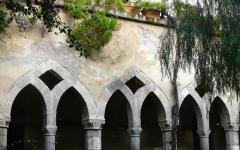 A cloister of Chiostro di San Francesco in Sorrento, Italy
