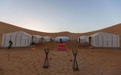 Luxury camp site. Photo courtesy of Merzouga Luxury Camp.