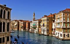 Venice Grand Canal in Italy.
