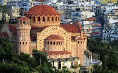 View of an orthodox cathedral in Thessaloniki, Greece